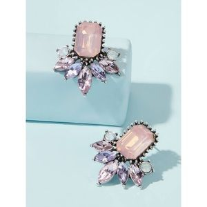 NWT Gemstone Stud Statement Earrings